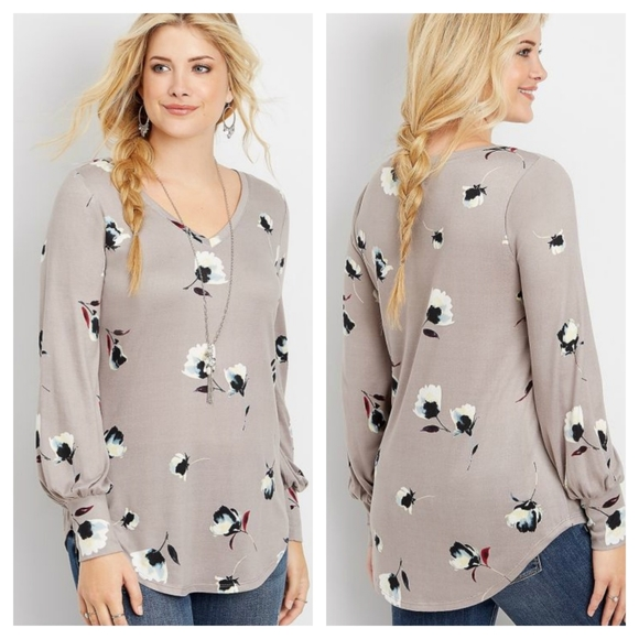 Maurices Tops - Maurice's floral long sleeve